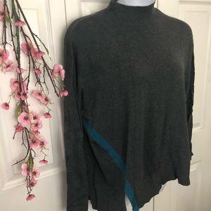 Lane Bryant Turtleneck Sweater Gray Blue 2X